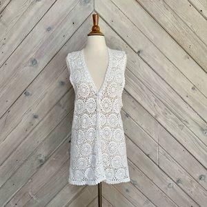 Vintage Casual Corner Crochet Vest